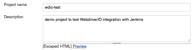 Jenkins Integration · WebdriverIO