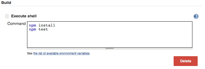 Jenkins Integration · WebdriverIO